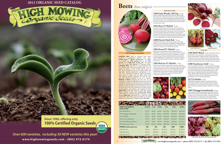 High Mowing Seeds sells % organic seeds that are also non-GMO. Their seeds are tested regularly for germination rates, as well as disease and GMO contamination. Here's a bit about their history and mission: High Mowing Seed Company wrote: High Mowing Organic Seeds began in .
