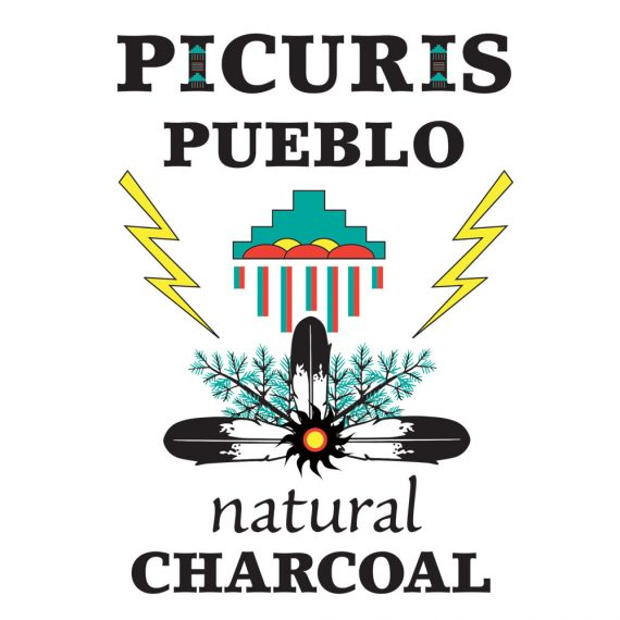 Picuris Pueblo charcoal logo