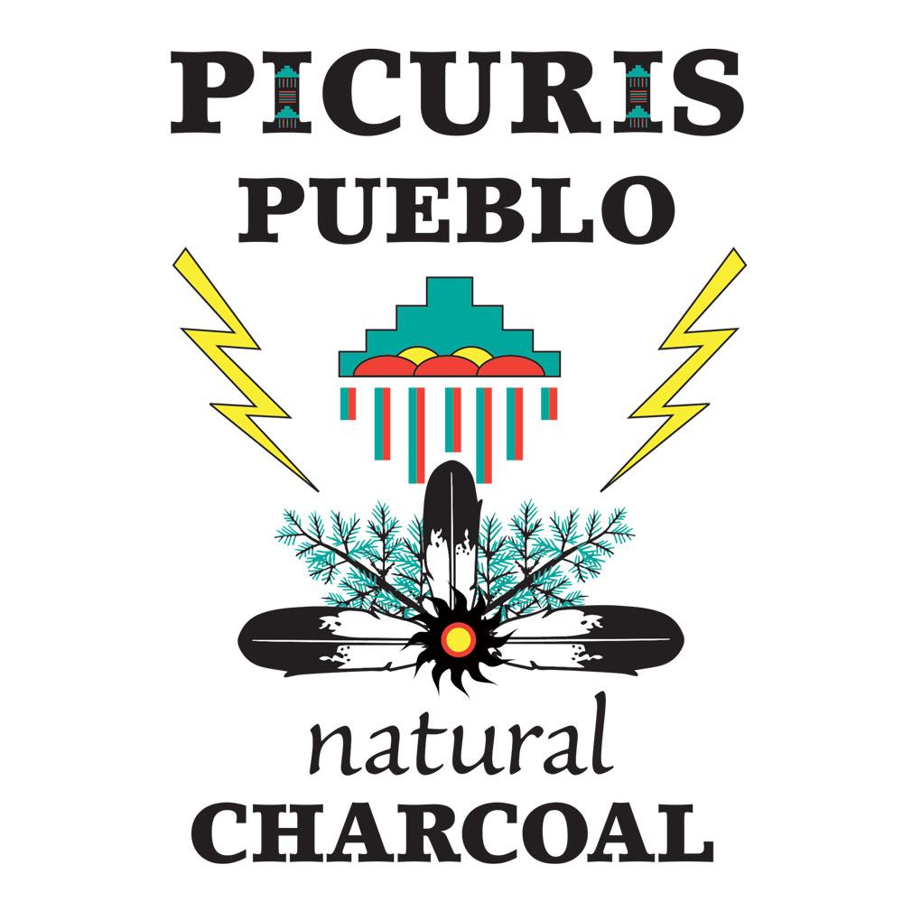 Picuris Pueblo charcoal logo